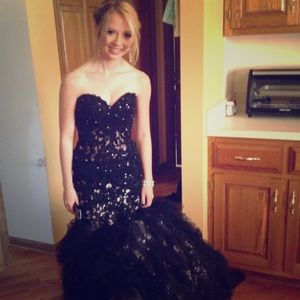 Black Jovani Mermaid Dress